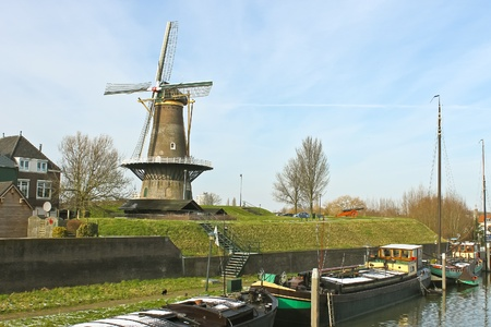Windmill in the Dutch town of Gorinchem. Netherlands photo