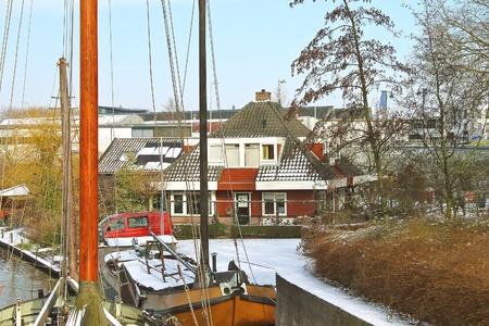 gorinchem: The house on the pier Gorinchem. Netherlands Editorial