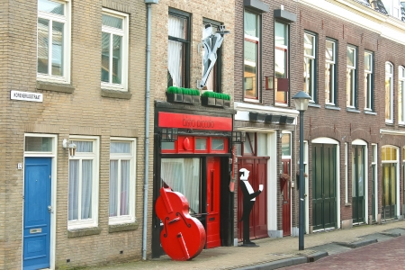 gorinchem: Cafe on the street Gorinchem. Netherlands