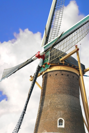 gorinchem: Old windmill in the town of Gorinchem. Netherlands