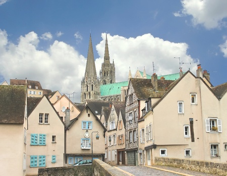 chartres: On the streets of Chartres in Christmas. France Stock Photo