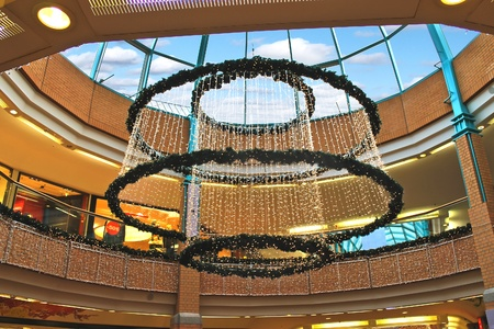 Christmas decoration under the dome shopping center