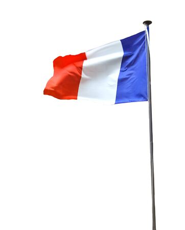 french flag: French flag isolated on white background