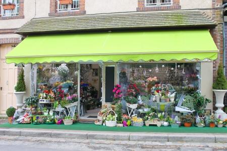 Flower shop in Verneuil-sur-Avre. France