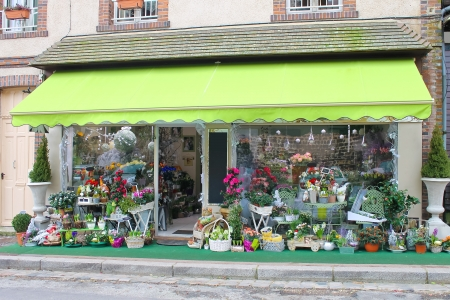 flower shop: Flower shop in Verneuil-sur-Avre. France