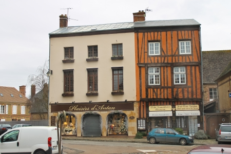 On the streets of Verneuil-sur-Avre. France