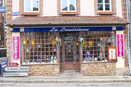 Cafe in Verneuil-sur-Avre. France