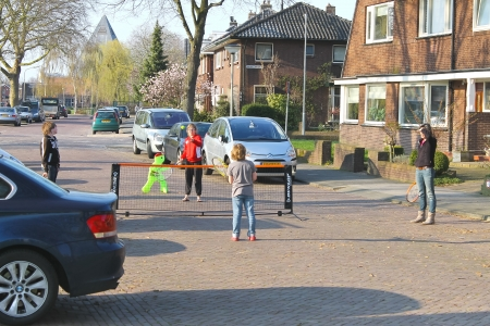 Children play on the streets of Gorinchem. Netherlands