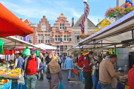 DORDRECHT, THE NETHERLANDS - SEPTEMBER 28: People at the fair in the festive city on September 28, 2013 in Dordrecht, Netherlands