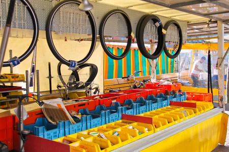 dordrecht: DORDRECHT, THE NETHERLANDS - SEPTEMBER 28: Bicycle repair shop on September 28, 2013 in Dordrecht, Netherlands