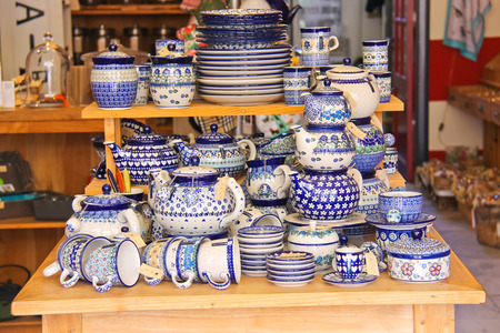 DORDRECHT, THE NETHERLANDS - SEPTEMBER 28: Sale crockery in a shop on September 28, 2013 in Dordrecht, Netherlands