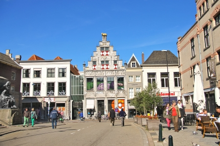 dordrecht: DORDRECHT, THE NETHERLANDS - SEPTEMBER 28: People on the street on September 28, 2013 in Dordrecht, Netherlands Editorial