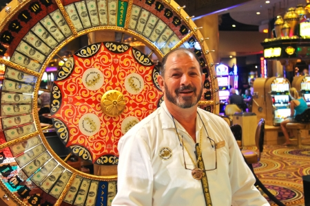 croupier: LAS VEGAS, NEVADA, USA - OCTOBER 20 : Croupier casino in Caesars Palace  on October 20, 2013 in Las Vegas, Caesars Palace hotel opened in 1966 and has a Roman Empire theme.