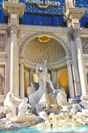 LAS VEGAS, NEVADA, USA - OCTOBER 20 : Fountain at the mall The Forum Shops in Caesars Palace   on October 20, 2013 in Las Vegas, Caesars Palace hotel opened in 1966 and has a Roman Empire theme.