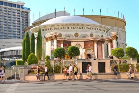 caesars palace: LAS VEGAS, NEVADA, USA - OCTOBER 20 :  Caesars Palace on the Vegas Strip on October 20, 2013 in Las Vegas, Caesars Palace hotel opened in 1966 and has a Roman Empire theme.