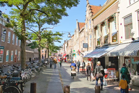 dordrecht: DORDRECHT, THE NETHERLANDS - SEPTEMBER 28: People on the celebratory street on September 28, 2013 in Dordrecht, Netherlands  Editorial