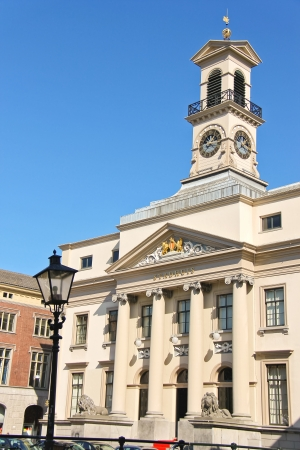 Town Hall in the Dutch city of Dordrecht, the Netherlands Imagens