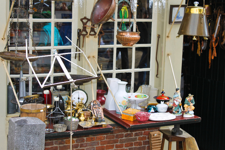 Sales of antiques in the shop. Delft, Netherlands. photo