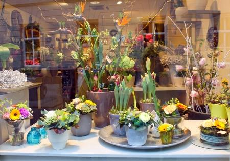 den: Showcase floral shop. Den Bosch,  Netherlands