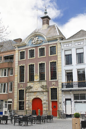 breda: A street in Breda in the province of Brabant, Netherlands Editorial