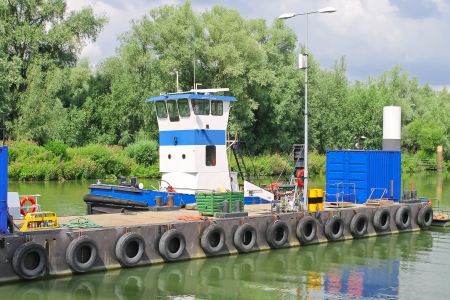 Tug on the dock Dutch shipyard  Netherlands photo