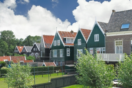 marken: Houses on the island of Marken. Netherlands