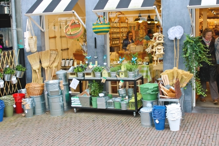 household goods: DELFT, THE NETHERLANDS - APRIL 7, 2012 : Household goods in store for garden. Delft, Holland Editorial