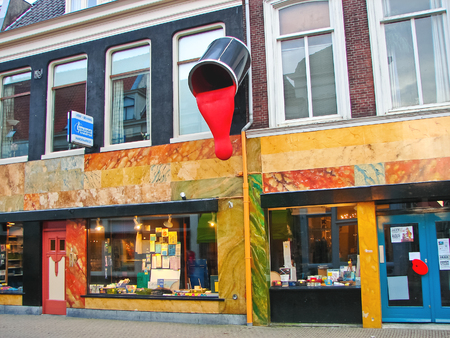 GORINCHEM, THE NETHERLANDS - FEBRUARY 14, 2012 : Store of paint and varnish products  in Gorinchem. Netherlandss