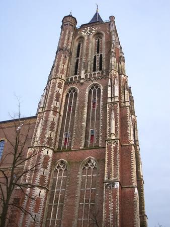 The old church tower in Gorinchem. Netherlands