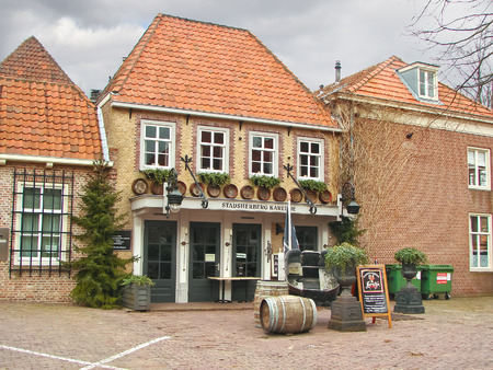 HEUSDEN,THE NETHERLANDS - FEBRUARY 18, 2012 : Restaurant in the Dutch town of Heusden. The city is located in the province of North Brabant
