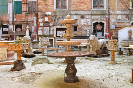 Gallery of antiquity under the open sky in Venice, Italy Stock Photo - 29654644