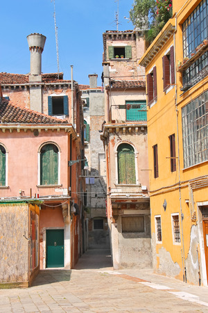 House in courtyard of the Italian city photo