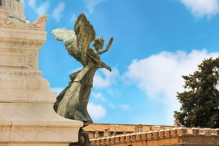 emmanuel: Statue of a winged woman in the monument to Victor Emmanuel II. Piazza Venezia, Rome