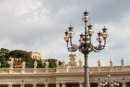 st  peter's square: Lantern on St. Peters Square at the Vatican. Rome, Italy  Stock Photo