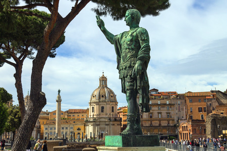 augustus: ROME, ITALY - MAY 04, 2014: Statue of Emperor Marcus Nerva  in Rome, Italy Editorial