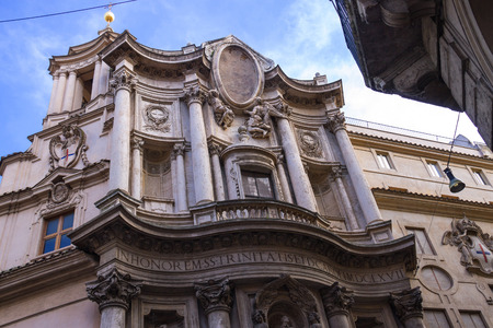 st charles: Church of St.. Charles near the four fountains (San Carlo alle Quattro Fontane) in Rome, Italy