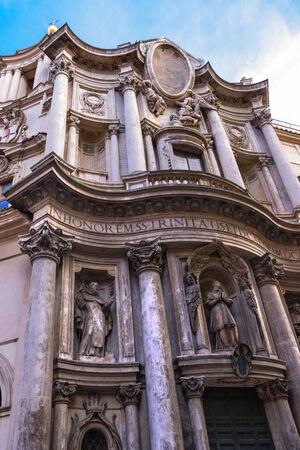 st charles: Chiesa di San Carlo .. vicino le quattro fontane (San Carlo alle Quattro Fontane) a Roma, Italia Archivio Fotografico