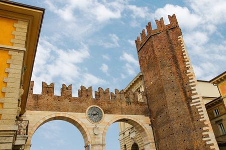 Medieval city gate. Verona, Italy photo