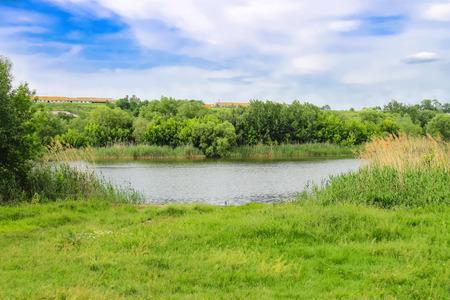 green river: River near the Ukrainian village Stock Photo