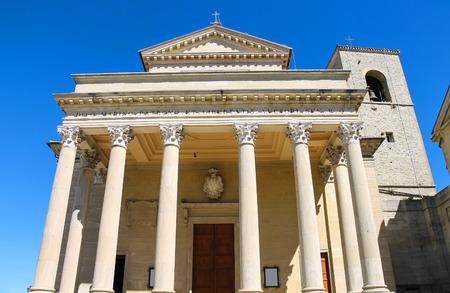 Basilica of San Marino ( Basilica minore di San Marino diacono ). The Republic of San Marino Editorial