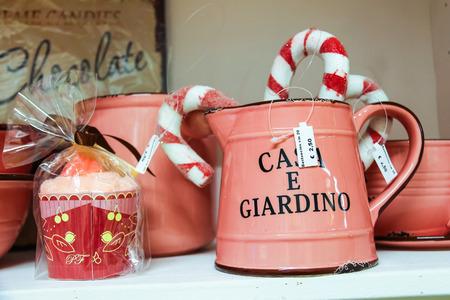 Taneto, Italy - December 27, 2014: Great Cristmas market Villaggio di Babbo Natale in the garden center Mondoverde. Taneto, Italy