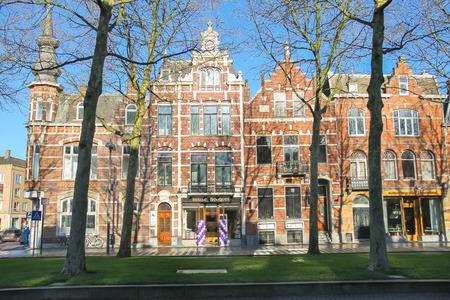 den: Den Bosch, Netherlands - January 17, 2015: Beautiful old house in the center of the Dutch city of Den Bosch Editorial