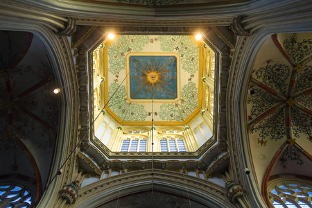 den: Den Bosch, Netherlands - January 17, 2015: Dome  in the cathedral Dutch city of Den Bosch