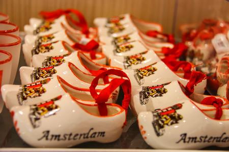 schiphol: Amsterdam Schiphol, Netherlands - April 18, 2015: Sale of  gifts at the airport Amsterdam Schiphol, Netherlands