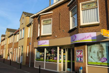 hause: Meerkerk, municipality Zederik, Netherlands - April 13, 2015: Showcase perfume shop Dio in Meerkerk, Netherlands