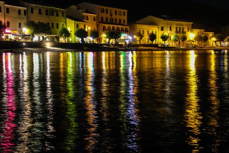 tyrrhenian: Coast of the Tyrrhenian Sea at night. Marciana Marina, Elba Island, Italy