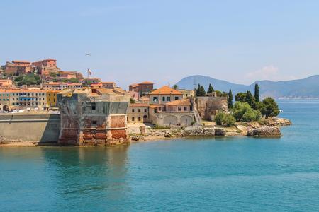 berth: Old part of Portoferraio from the sea, Elba island, Tuscany, Italy