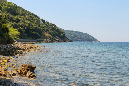 tyrrhenian: Coast of Tyrrhenian Sea on Elba Island, Italy