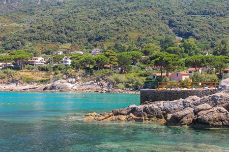 tyrrhenian: Coast of Tyrrhenian Sea, Sant Andreas on Elba Island, Italy Stock Photo