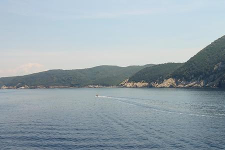 tyrrhenian: Coast of Tyrrhenian Sea on Elba Island, Tuscany, Italy Stock Photo